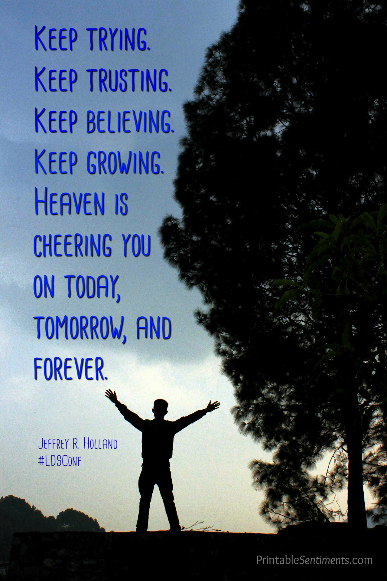"""""""Keep Trying"""" Free Printable Quote"""