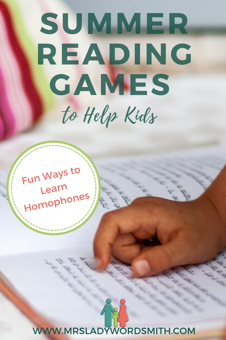 Could your kid use a little summer reading practice? These fun games make it easy to learn and remember tricky words like homophones. #summer #reading #challenge #2019 #forkids #middleschool