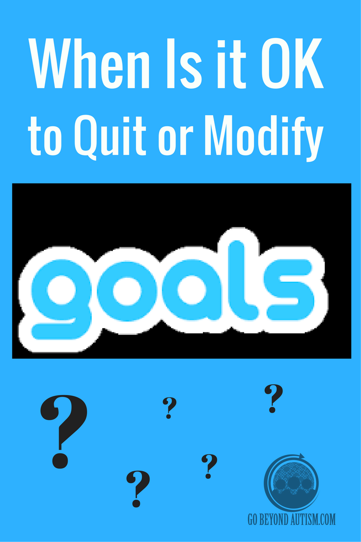 When Is it OK to Quit or Modify a Goal?
