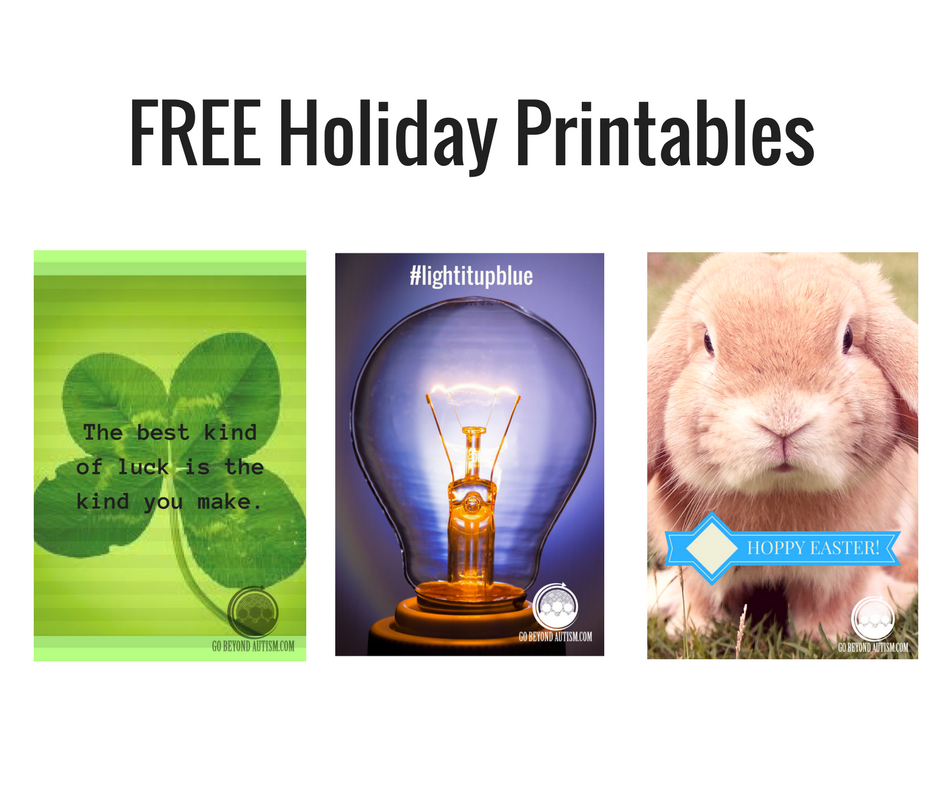 2 FREE Holiday Printables, Plus One for Light It Up Blue