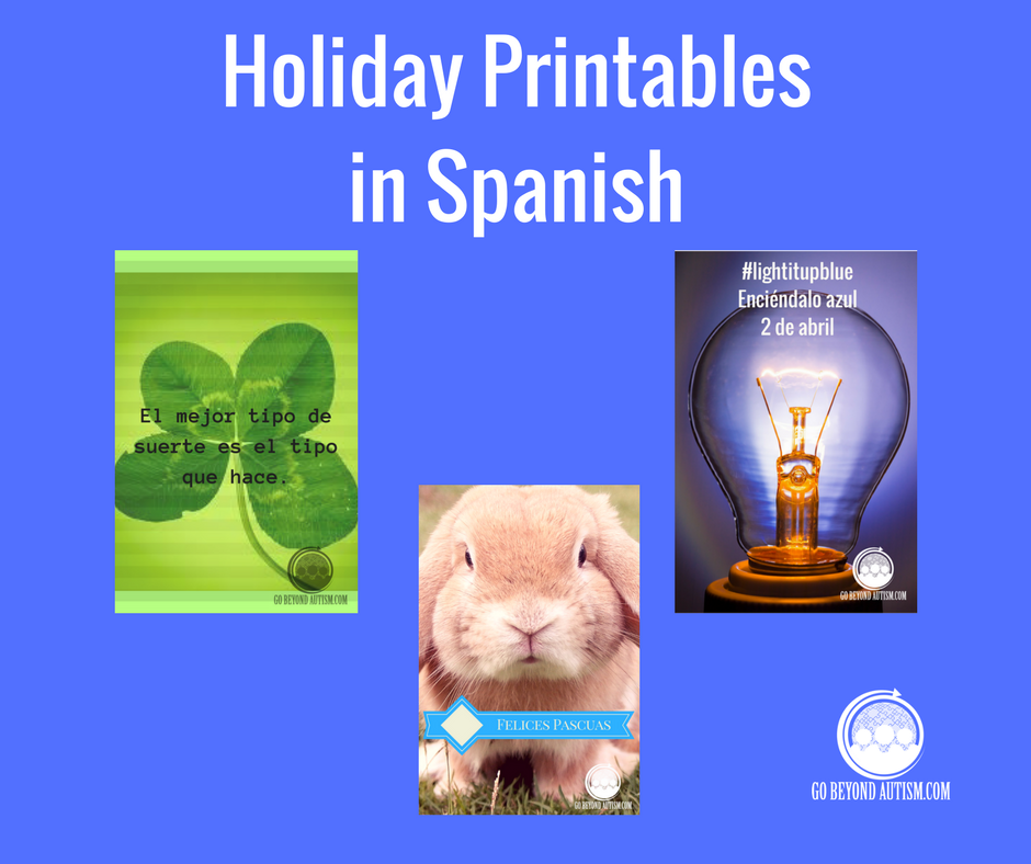 Free Holiday Printables in Spanish