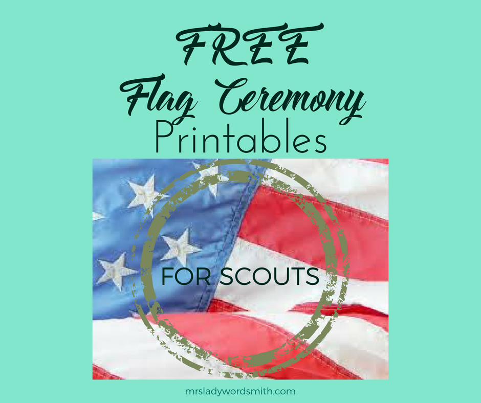 graphic regarding Cub Scout Flag Ceremony Printable identify Totally free Cub Scout Flag Rite Printables - Mrs. Female Wordsmith