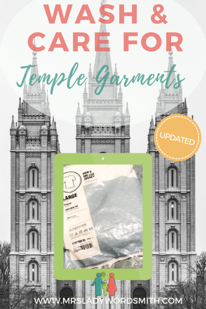 Keep your temple garments clean and white with these tips to wash and care for them. #churchofjesuschristoflatterdaysaints #lds #mormon #temple #garments #clean #wash #laundry