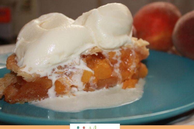 Fresh Peach Pie with a Secret Ingredient