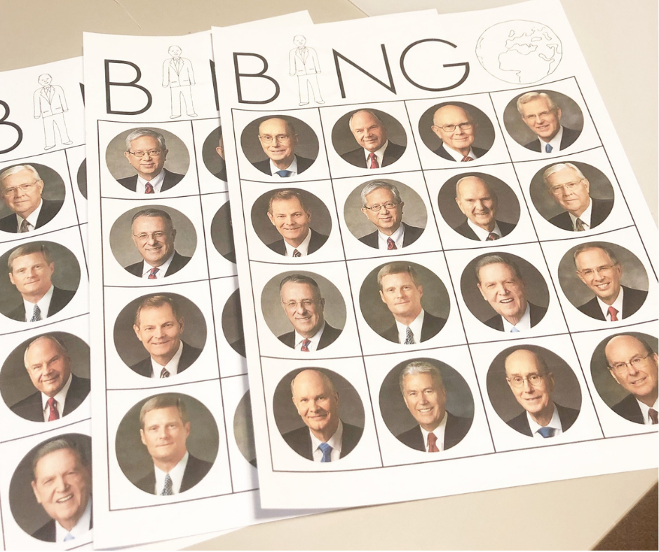 LDS General Conference Bingo