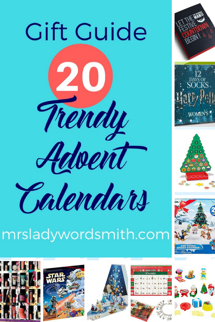 Looking for fun Advent calendars to celebrate the Christmas countdown? This gift guide shows 20 great options. #gift #christmas #advent #holiday