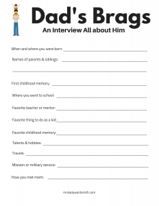 picture regarding Father's Day Fill in the Blank Printable named 19 Fathers Working day Present Guidelines and Absolutely free Printables That POP