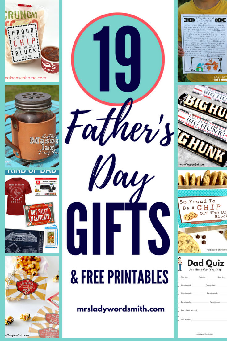 Looking for unique, thoughtful Father's Day gifts? We have 19 ideas you can make or purchase for Dad. #fathersday #dad #fathersdaygifts #fathersdaygiftideas #fathersdaycraftsforkids #fathersdaygiftsfromkids #giftsformen #questionstoaskdad #giftsforhim