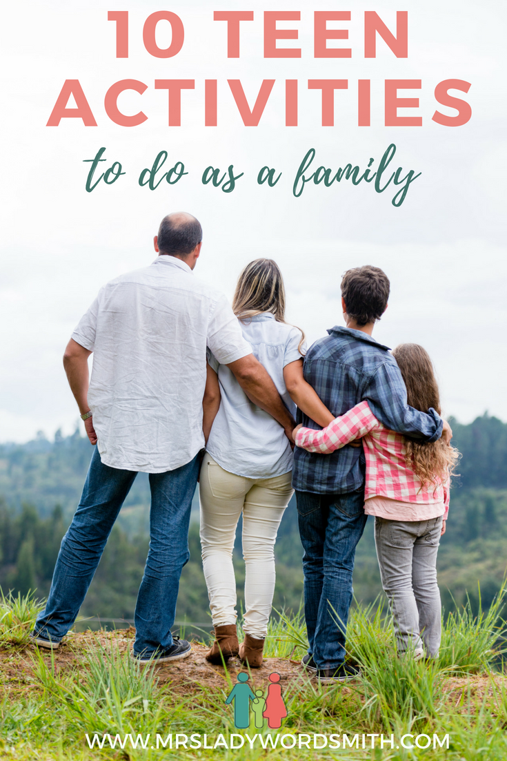 Do you struggle to find activities to do with your teen? Sometimes they're just too cool unless you have fun ideas like these 10 activities to do as a family. #teens #activities #family