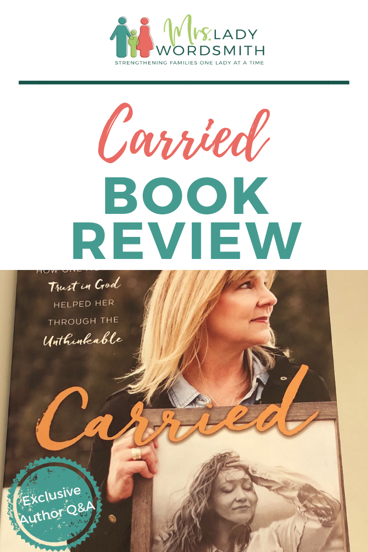 Carried, by Michelle Schmidt and Angie Taylor. Book review. Wife of Jon Schmidt, of the Piano Guys, shares their behind-the-scenes experiences when their daughter Annie's tragic disappearance gained worldwide attention and concern. #carried #bookreview #book #lds #mormon #christian #god