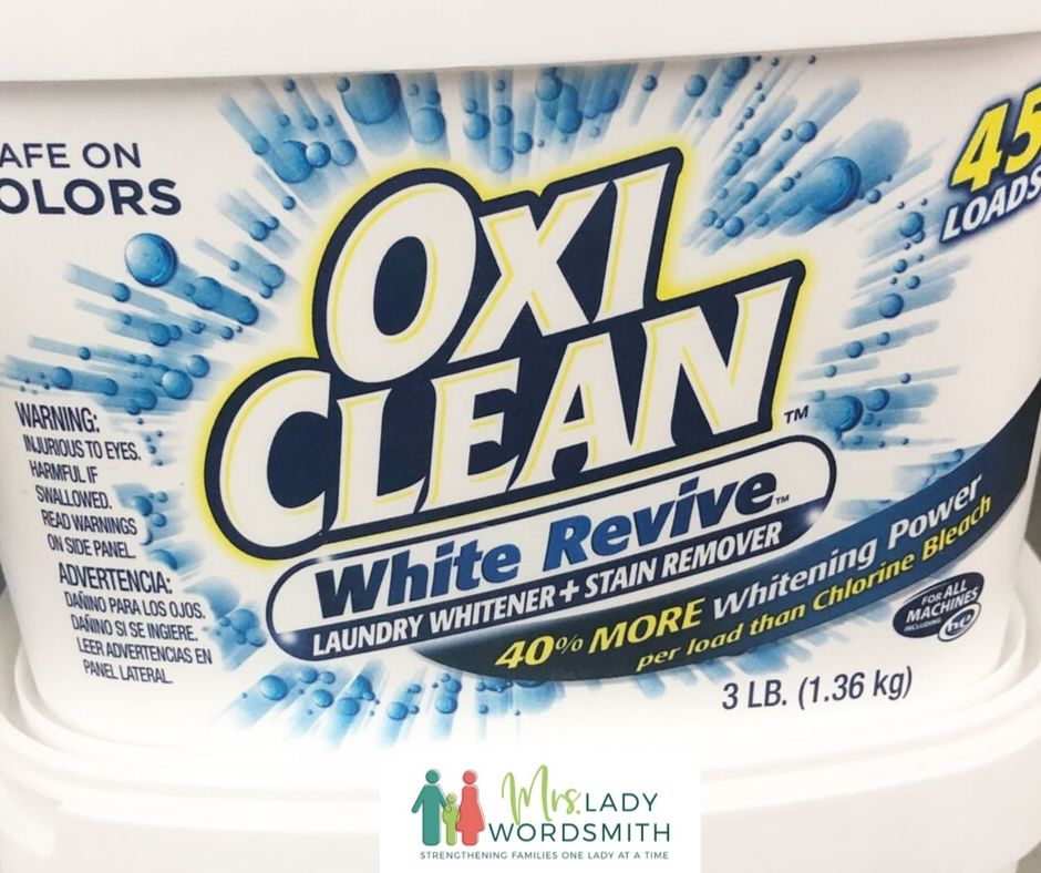 OXI CLEAN for LDS temple garments