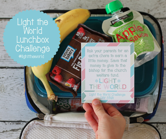 Light the World Lunchbox Message