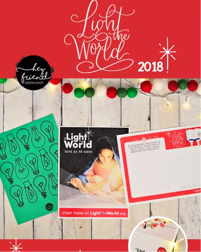 Light the World 2018 Free Printables