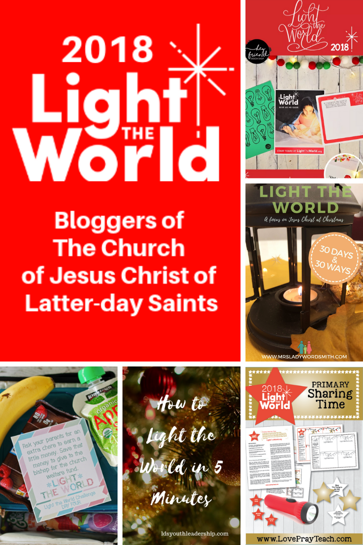 Light the World 2018 in service this Christmas season. This is the best roundup of blogger ideas, sharing how you might participate. #lighttheworld #christmas #lds #mormon #christian #jesus