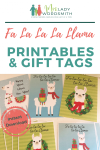 Have you noticed the fun llama Christmas craze? Fa la la la llama is too fun! Enjoy two Christmas and one Happy Yama Llama New Year design that includes printables to frame and gift tags. #llama #falalala #christmas #newyear #holiday #printables #gifts