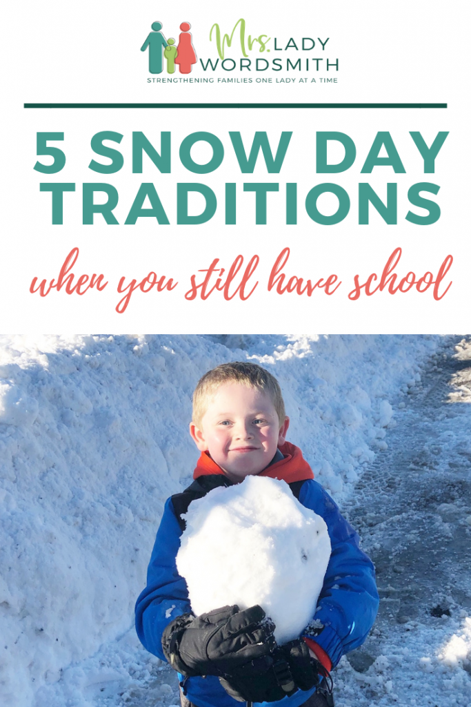 Even when your kids have school on snow days, you can still have fun before they go with these quick, fun ideas. #snow #snowdays #winter #kids #children #school #activities