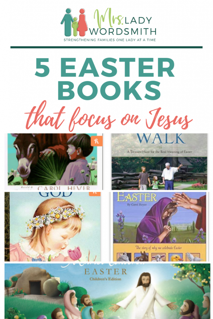 Teach your children that Easter is about Jesus with these 5 inspiring, beautiful books. #easter #jesus #christ #christian #book #children #kids