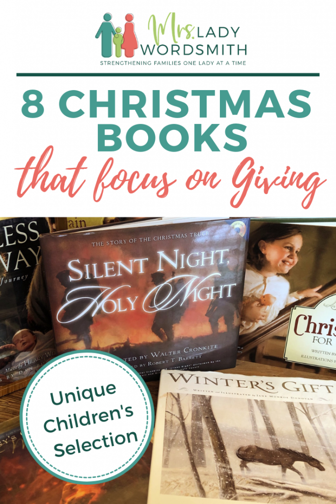 Would you like to teach your children to be more giving this Christmas season? These 8 unique books will help you do just that. See which one is your new favorite. #christmas #books #book #children #giving #holiday #holidays #reading #gratitude