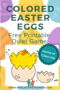 "Do you have a classroom or home full of busy kids? This is the perfect ""hatching"" game to keep them quietly in their seats. #easter #egg #kids #children #game #freeprintable #class #school #education #family"