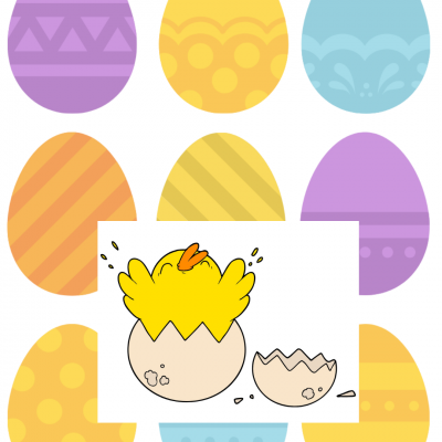 Free Colored Easter Egg Printable Game