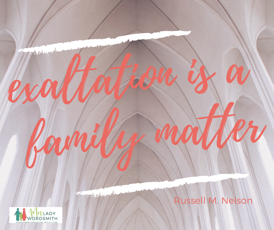 exaltation is a family matter