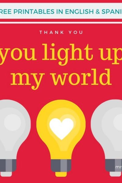Light the World Thank You Cards