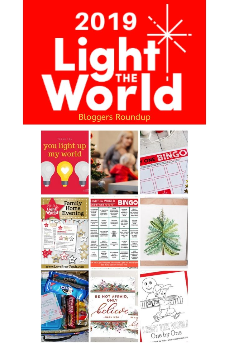 Join thousands this holiday season as we Light the World with service. This roundup collection offers free ideas to help you and your family serve others this December. #lightheworld #lightheworld2019 #onebyone #comefollowme #lds #mormon #serve #christian #jesus