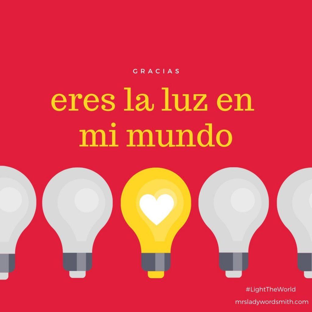 Light the World Spanish Instagram