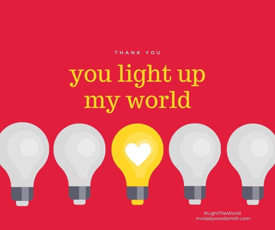 Light the World Thank You Card Facebook Size