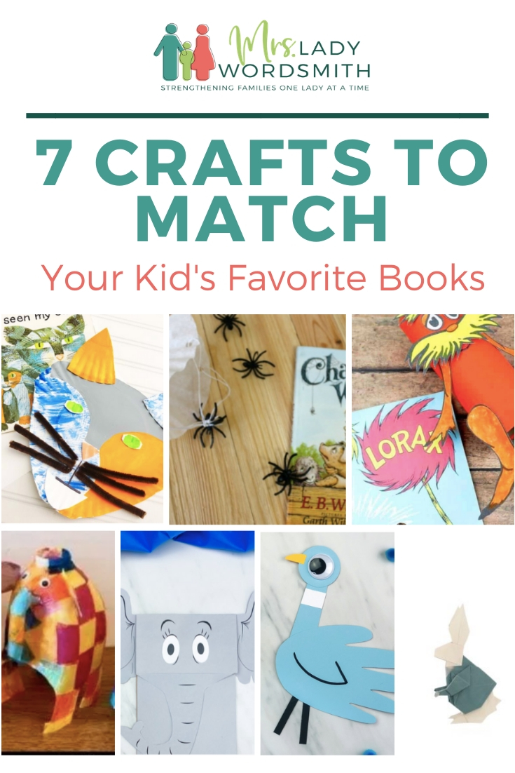 Combine crafts with your kid's favorite books, and you have winner boredom busters! See these 7 fun ideas, using supplies you likely have at home.