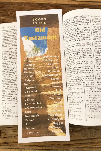 Old Testament Bookmark