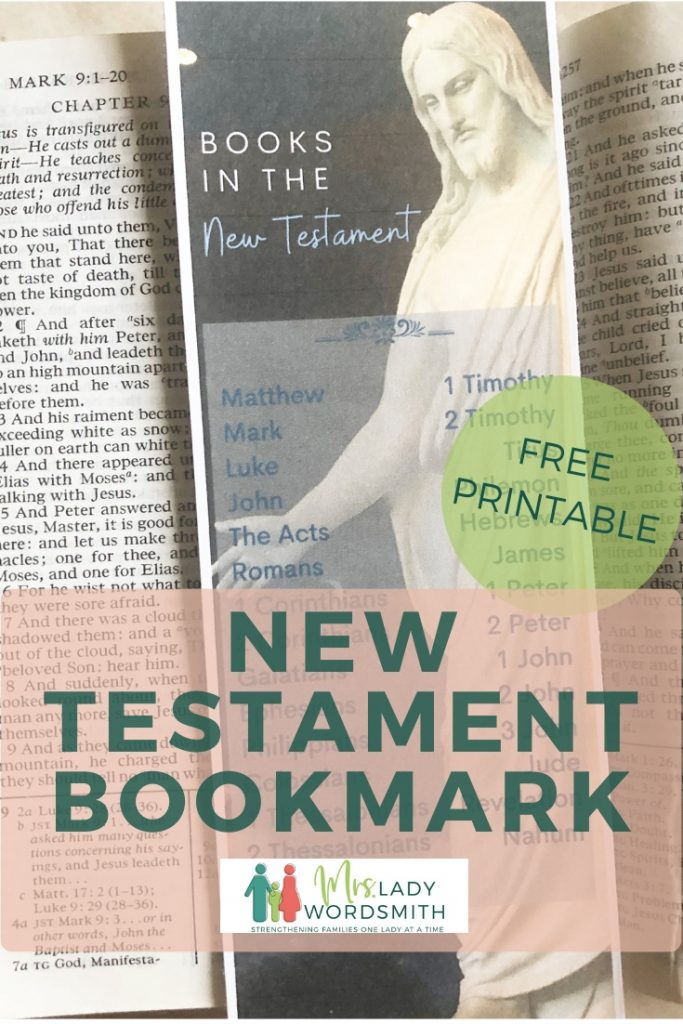 Easily remember the books of the New Testament with this beautiful, free bookmark. Instant download.