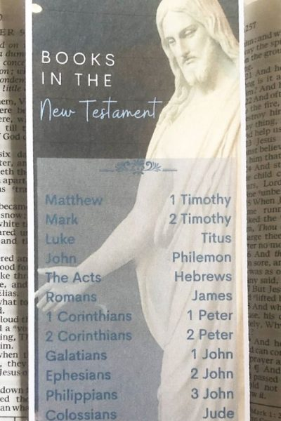 New Testament Bookmark