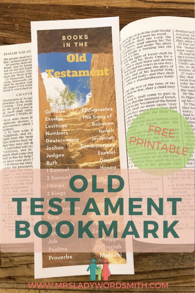Learn the order of the books in the Old Testament with this free, beautiful bookmark. Instant download.