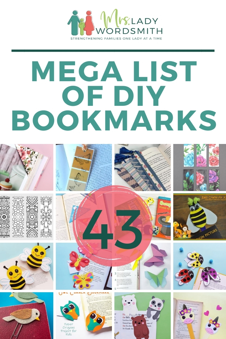 Here are 43 super-cute DIY bookmarks, a little something for all ages. #bookmark #diy #free