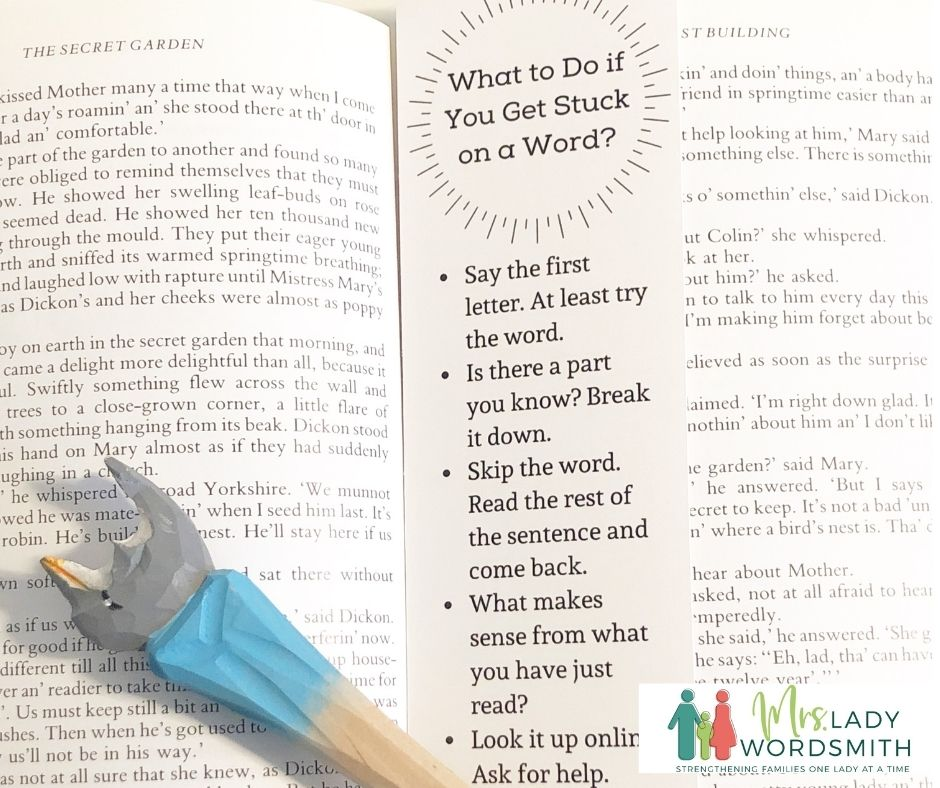 Stuck on a Word: Free Bookmark