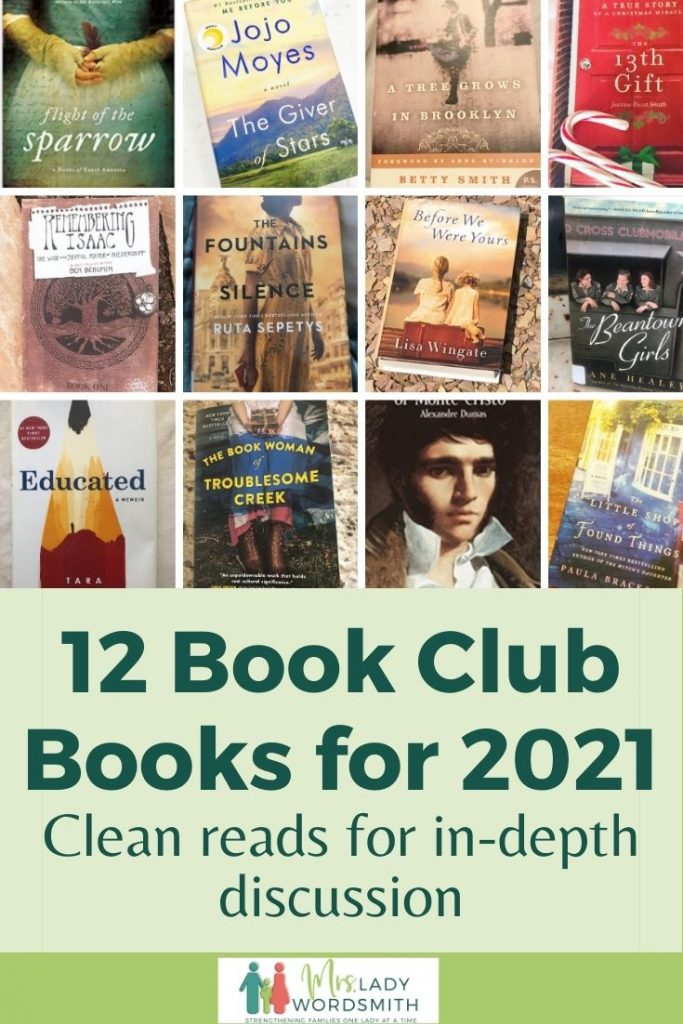 These 12 books will provide in-depth discussions for your book clubs this year. Tried and tested. Clean books with little to no profanity or explicit scenes. Read and enjoy!