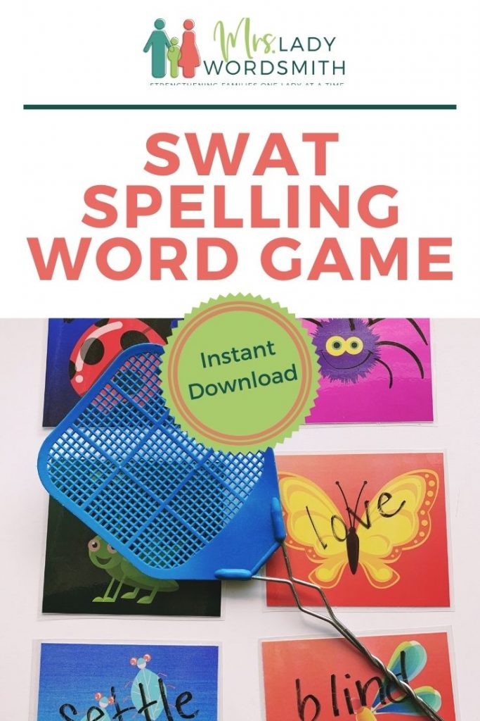 Your kids will love to swat their spelling words as they practice with this fun game. Download, print, and play.
