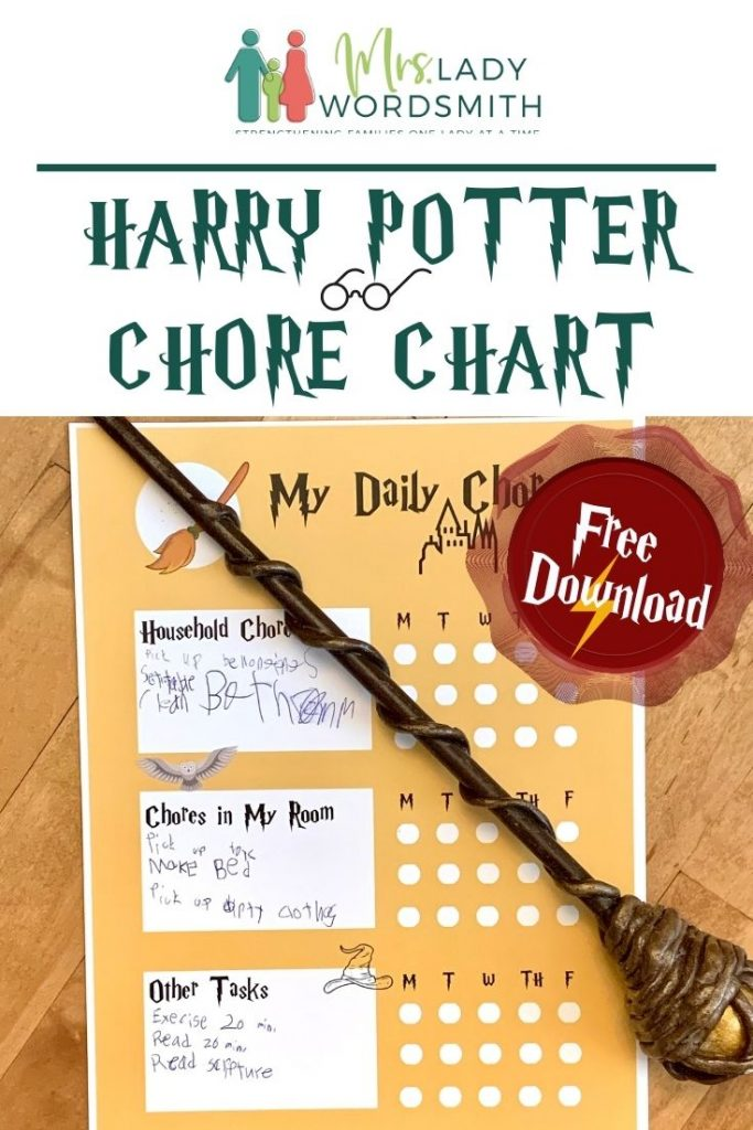 Do your children struggle to help with household tasks? This Harry Potter chore chart might be just the ticket! Free download.